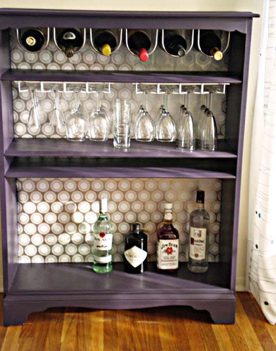 Apartment Therapy bar bookshelf