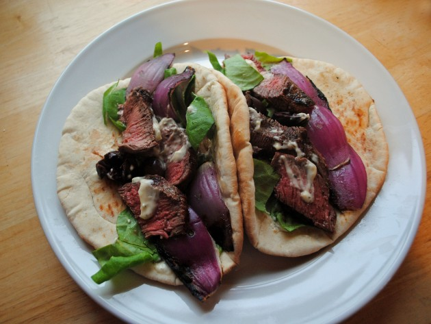 Steak Pitas