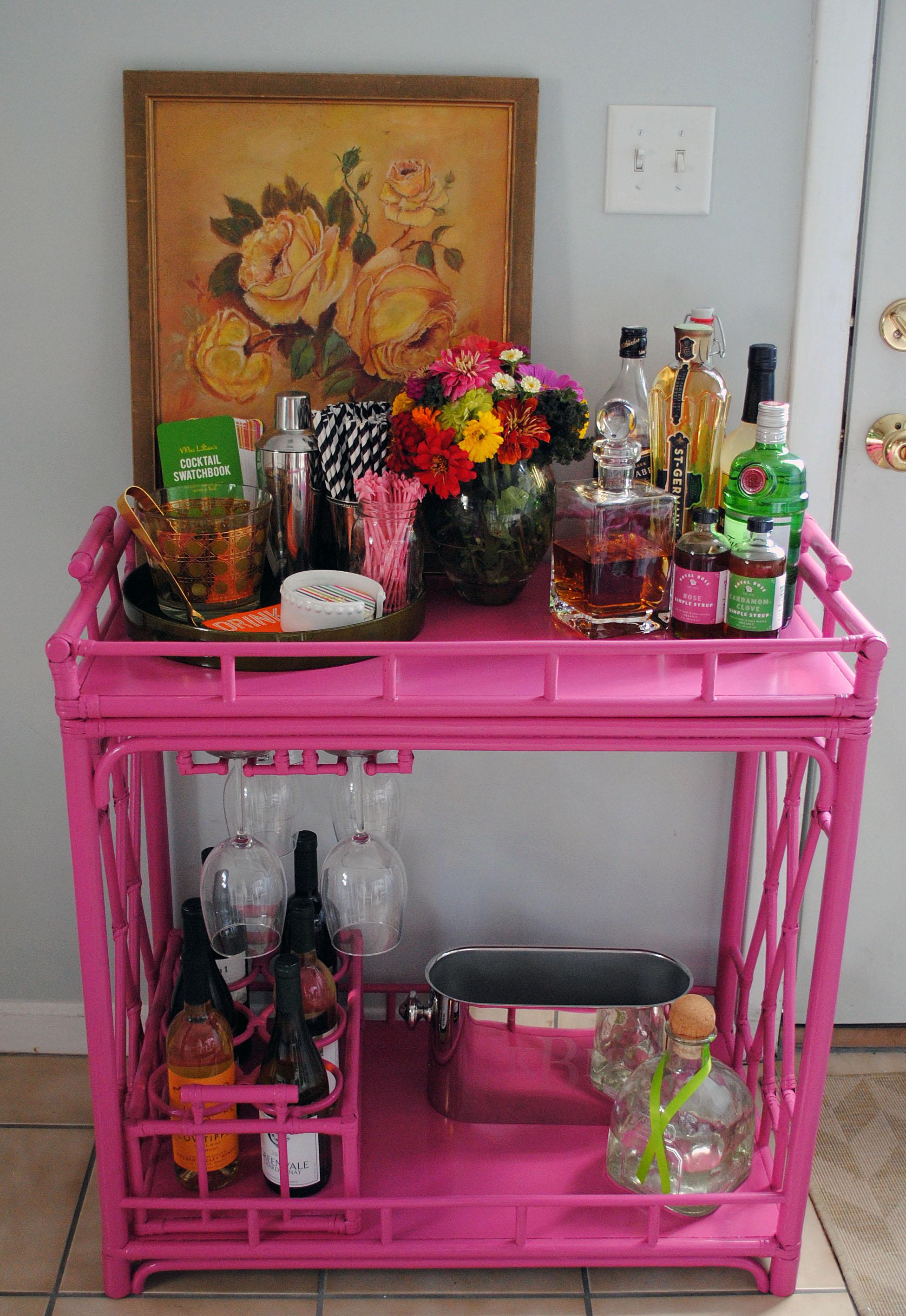 Bar Cart Styling Domestikatedlife