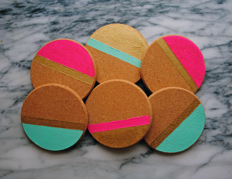 Diy Holidays Painted Cork Coasters Domestikatedlife