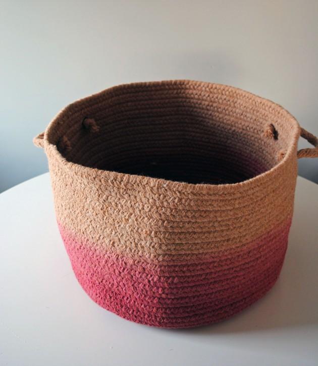 Dip Dye Basket DIY 1