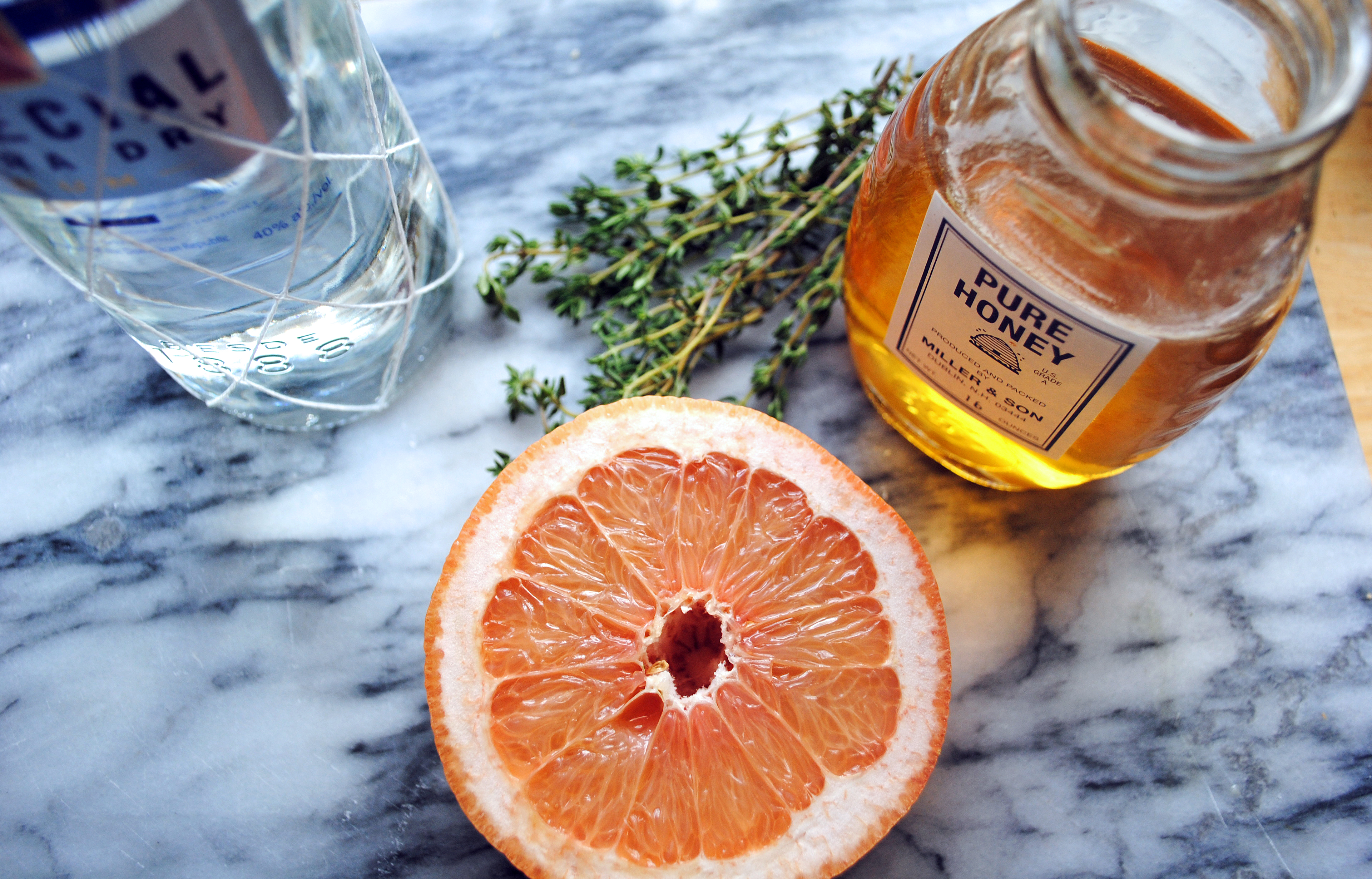 Grapefruit Punch Cocktail With Lemon Thyme Recipes — Dishmaps