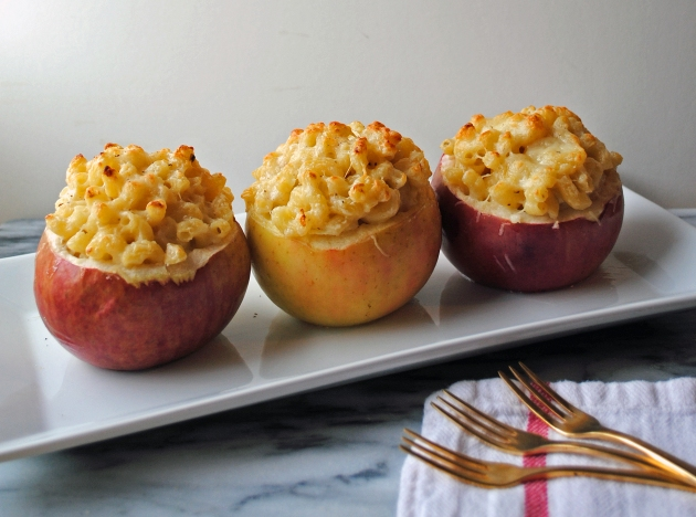 Mac and cheese baked apple